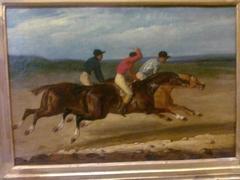 Course de chevaux montés