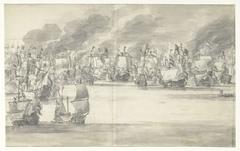 De Vierdaagse Zeeslag (middenblad), 1666
