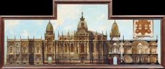 Entwurf für einen Palast: Rückseite und Grundriss