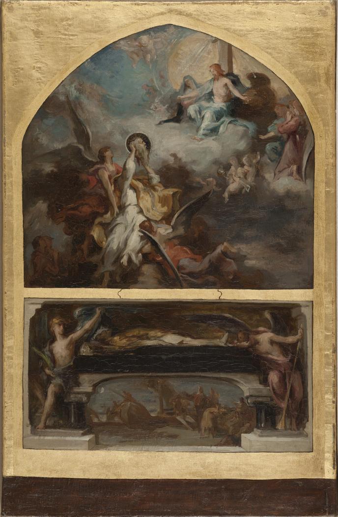 Esquisse pour l'église Saint-Merri : Résurrection et Apothéose de saint Denis