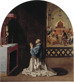 Father Bernard Praying in the Portes Charterhouse