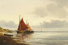 Fishing boats at the shore.