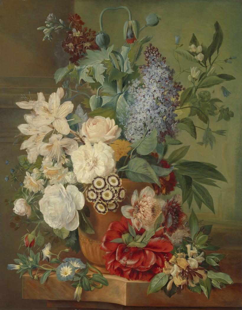 Flowers in a Terracotta Vase (Bloemen in een terracotta vaas)