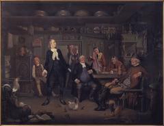 "Fra Ludvig Holbergs ""Erasmus Montanus"", III akt, 3. scene"