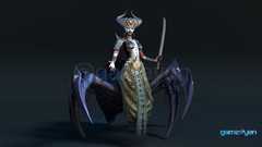 Gaming Low Poly Concept Character – Spider Mistress by Gameyan Character Modeling Artist Vancouver, Canada