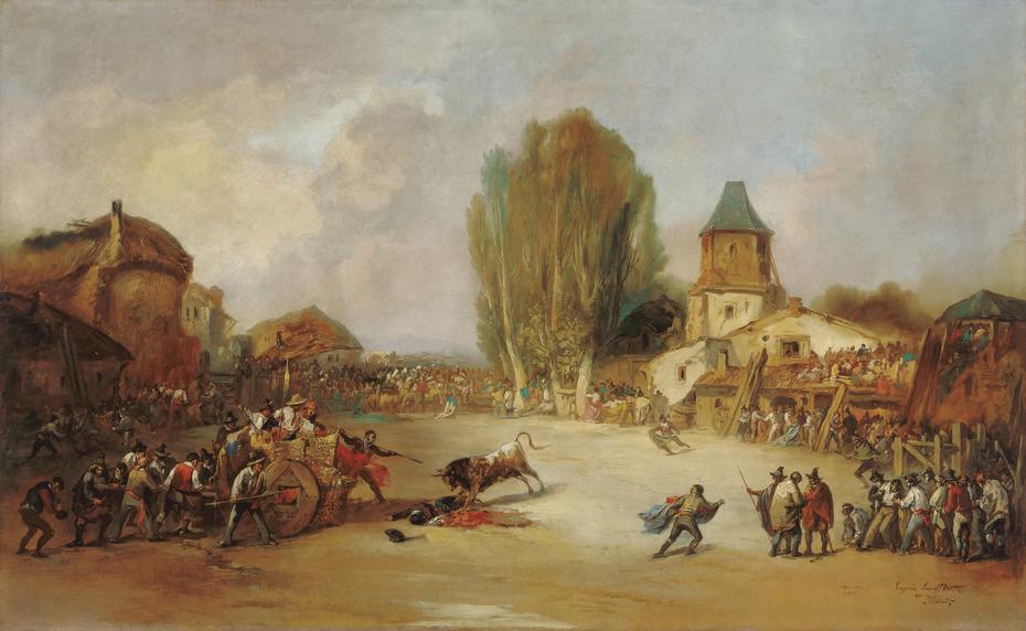 Goring at a Village Bullfight