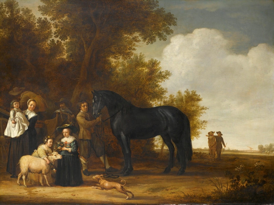 Group portrait in a landscape