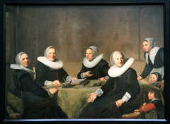 Group portrait of the regentesses of the Heilige Geesthuis in Haarlem