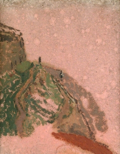 Hill with Two Figures: View from the Artist's Studio