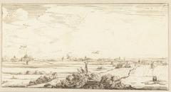 Hollands panoramisch landschap