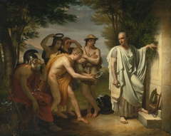 Horace at the tomb of Virgil