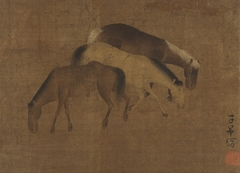 Horses, in Yuan style