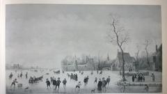 Ice Landscape near a Village