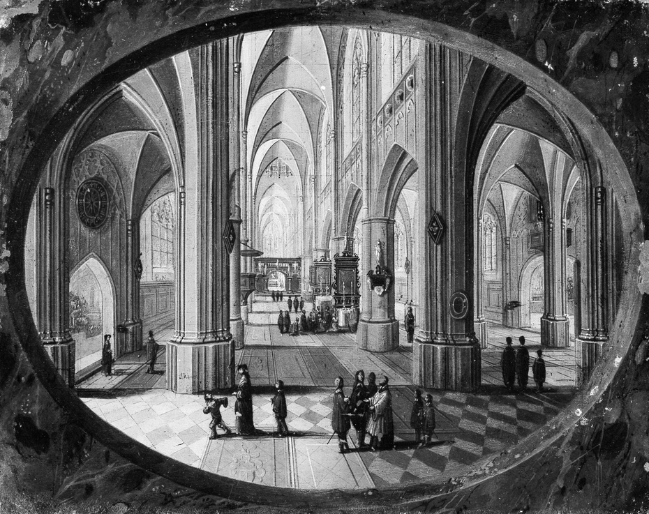 Interior of a Gothic Church by Day