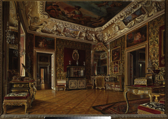Interior of the royal bedroom at the Wilanów Palace