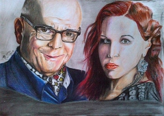 isidingo actors :Barker and Kimberly....color pencils