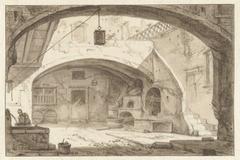 Italiaanse binnenplaats met een bakkerij
