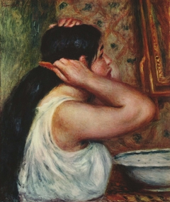 La Toilette: femme se peignant
