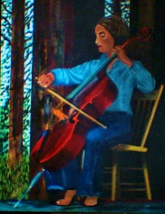 Lady Playing Cello
