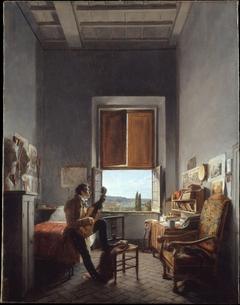 Léon Pallière (1787–1820) in His Room at the Villa Medici, Rome
