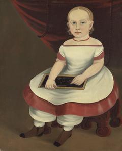 Little Girl with Slate