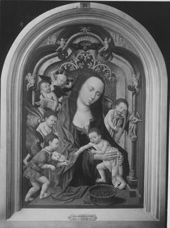 Maria mit Kind und musizierenden Engeln (Werkstattkopie)