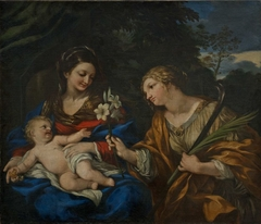 Mary and Child with Saint Martina