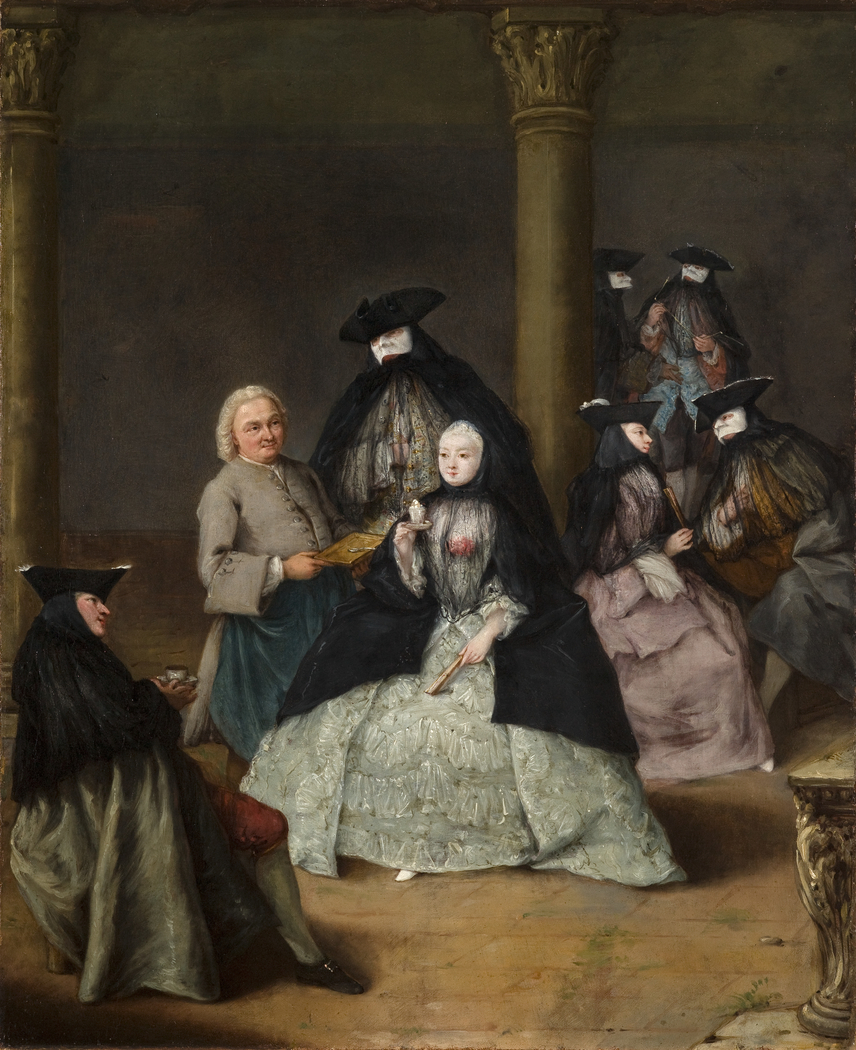 Masked Party in a Courtyard