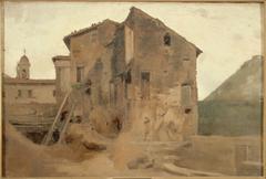 Masure dans la campagne de Rome