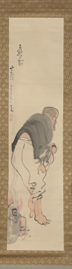 Monk Tanka Burning a Buddha Image (Tanka sho butsu 丹霞焼仏)