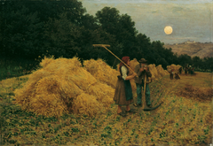 Moonrise After the Harvest I