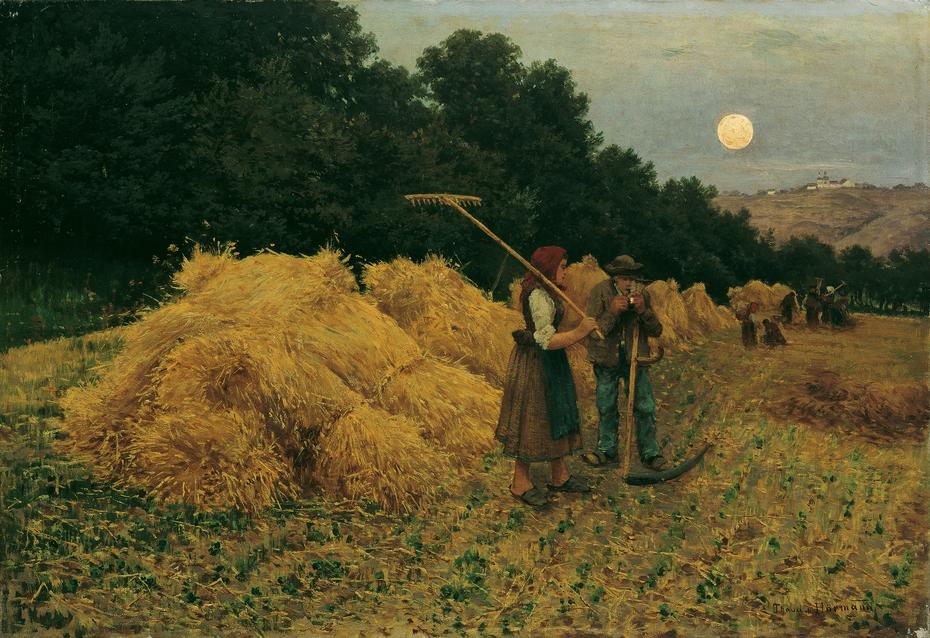 Moonrise After the Harvest I