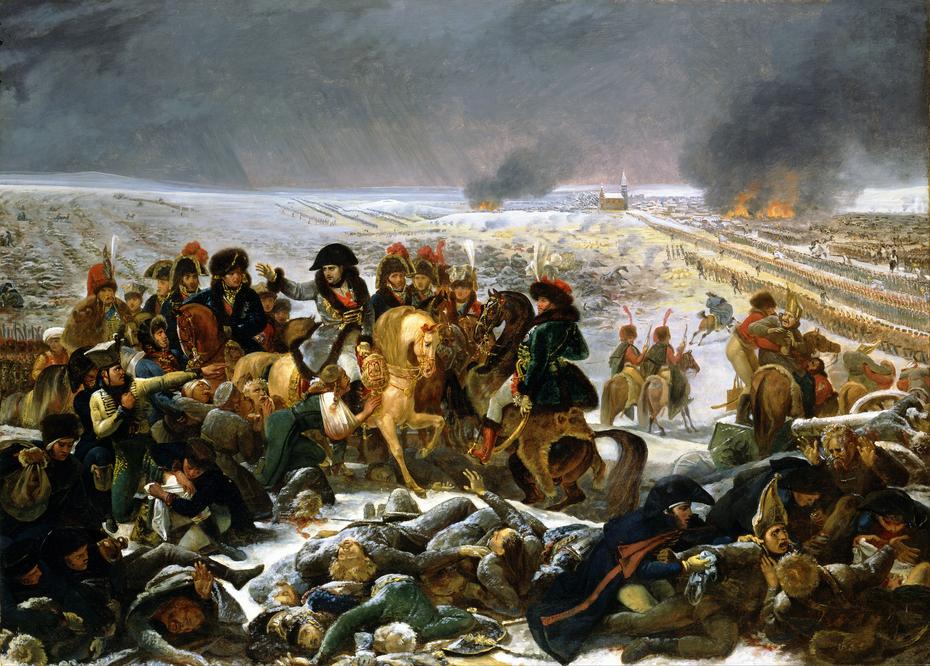 Napoleon on the Battlefield of Eylau.