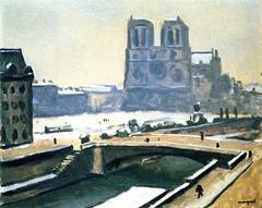 Notre Dame under Snow