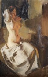 Nude in Fire Light