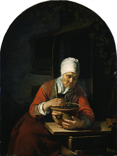 Old Woman with a Flower Pot
