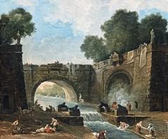 Paysage au pont