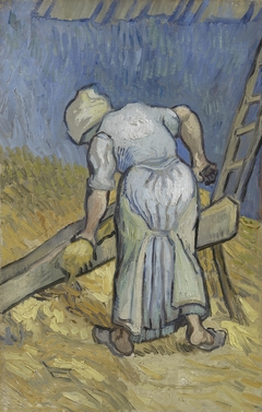 Peasant Woman Bruising Flax (after Millet)