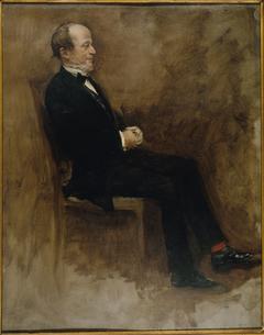 """Portrait de John Lemoine (1815-1892), publiciste, rédacteur en chef du """"Journal des débats"""""""