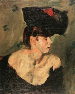 Portrait einer Dame mit Hut