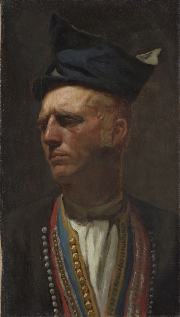 Portrait of a Farmer from Setesdal. Study for Fight in an old Farm House.
