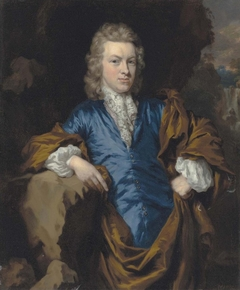 Portrait of a gentleman in blue