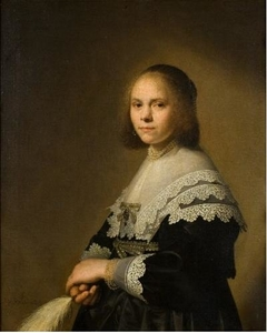 Portrait of a Lady with an Ostrich Fan