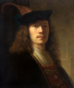 Portrait of a Man in a Feathered Bonnet