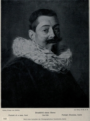 Portrait of a man with a beard and ruff collar