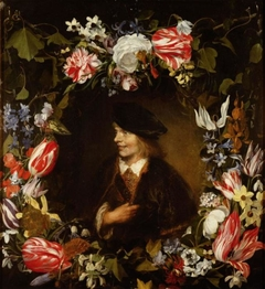 Portrait of a Young Man in Flower Garland