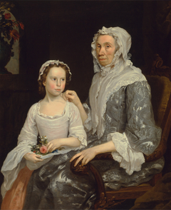 Portrait of an Elderly Lady and a Girl