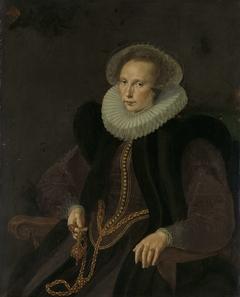 Portrait of Griete Jacobsdr van Rhijn, Wife of Jacob Cornelisz Banjaert, called van Neck