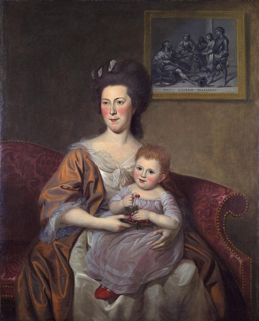 Portrait of Mrs. Thomas McKean (Sarah Armitage) and Her Daughter, Maria Louisa