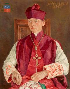 Portret van Johan Hubert (Jobs) Bonjer, wij-bisschop van de Vrij Katholieke Kerk
